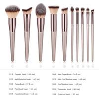 Hot Women's Fashion Brushes Wooden Foundation Cosmetic Eyebrow Eyeshadow Brush Beauty Makeup Brush Sets Tools Pincel Maquiagem Health & Beauty
