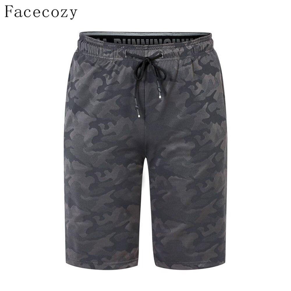 Facecozy мужские летние камуфляжные спортивные шорты для улицы эластичные быстросохнущие шорты тонкие короткие брюки до середины длины для пр...