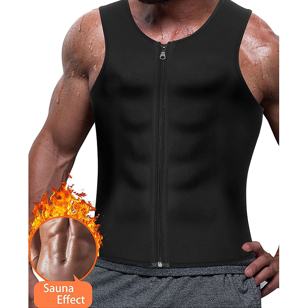 Men Zipper Neoprene Slimming Shaper Vest