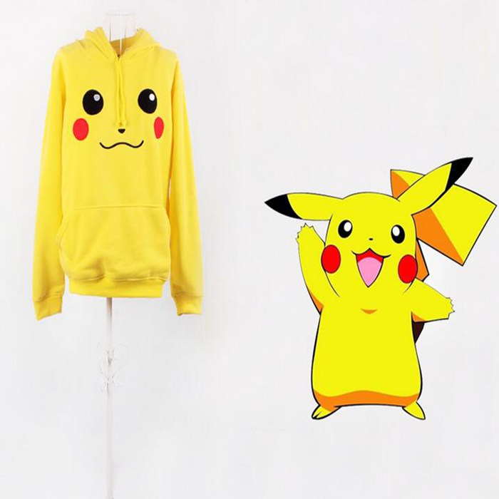 Freeshiping Pikachu roupas capuz dos desenhos animados ...
