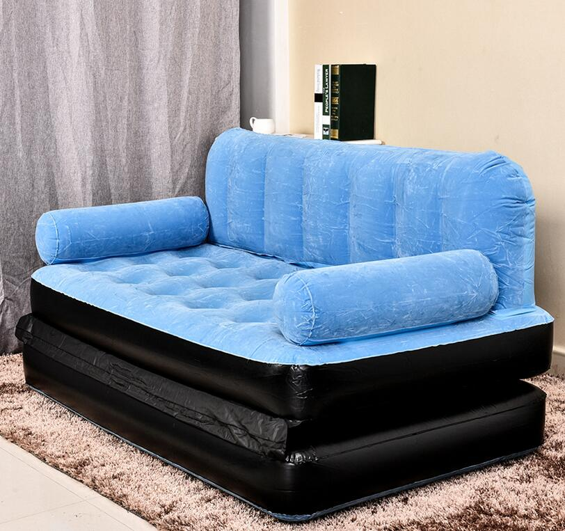 Inflatable Sleeper Sofa Bed: 205CM X 146CM X 66CM Outdoor L Lazy Inflatable Sofa Bed