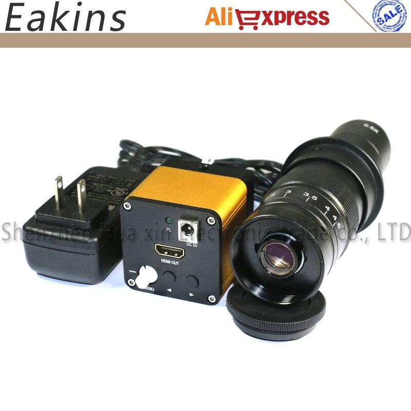 Full HD 1080P 60fps <font><b>HDMI</b></font> Industrial Digital Microscope Camera+180X/300X C-mount Lens For <font><b>Phone</b></font> Repair