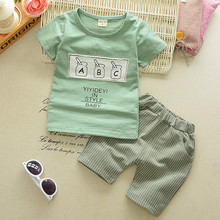 1 2 3 4 Year Boys Clothes 2019 New Cotton Casual Kids Outfits Star Shirts Stripe grid Pants 2pcs Baby Children Clothing Set
