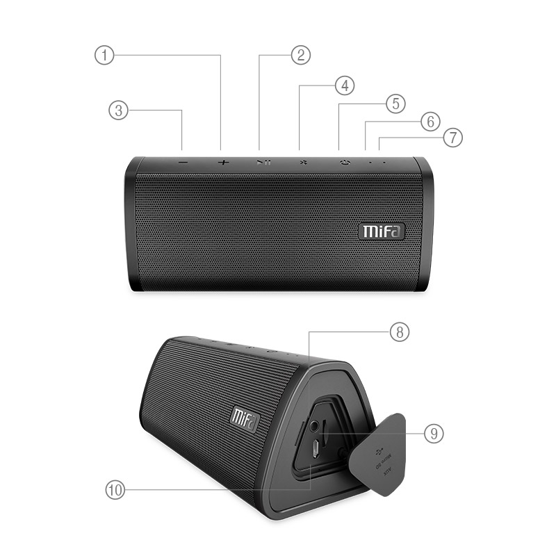 MIFA A10 haut-parleur Bluetooth portable stéréo son grande puissance 10 W prix maroc