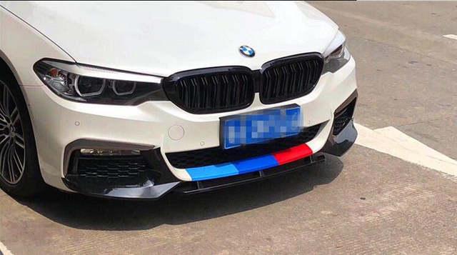 2017+ 5 Series G30 Front Lip //M5 style Carbon Fiber Front Lower Lip  Spoiler For BMW G30 M-tech bumper