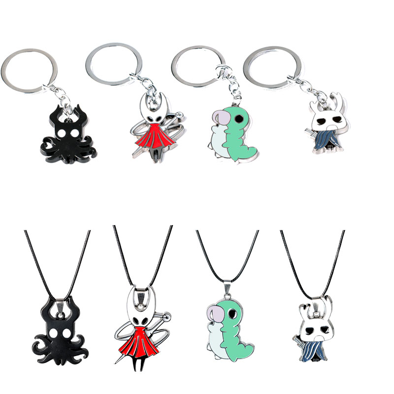 Game Hollow Knight Keychain Keyring Fashion Toy Protagonist Key Chains Pendant Men Women Jewelry Fans Gift Charms Accessories