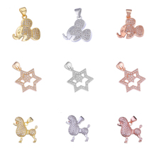Juya, сделай сам, для женщин и детей, изготовление ювелирных изделий, микро проложенный кубический цирконий, Микки, Минни, звезда, женский шарм, пудель, принадлежности для подвесок
