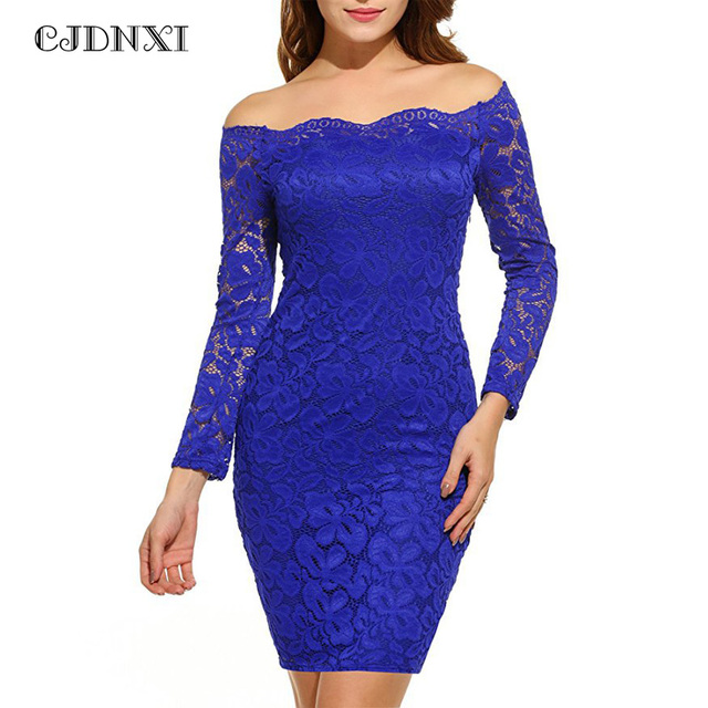CJDNXI Women Spring Summer Floral Lace Dress Long Sleeve Sexy Elegant  Vestidos Short Dresses Burgundy Vintage Vestido De Renda