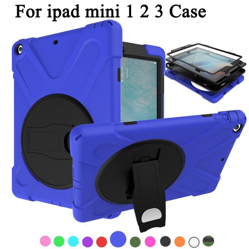 Чехол для apple ipad Mini 1 2 3 дети Безопасный противоударный Heavy Duty Силиконовый Футляр Чехол для ipad 6 Чехол с/ bulit