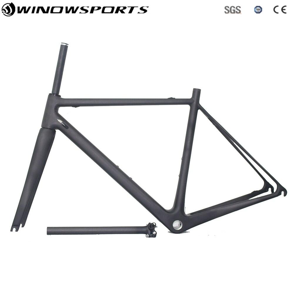 Winowsports offre spéciale cadre en carbone WL-RF108 pas cher cadre de vélo de route en carbone 48 51 54 CM UD mat brillant chine cadre de route BSA BB
