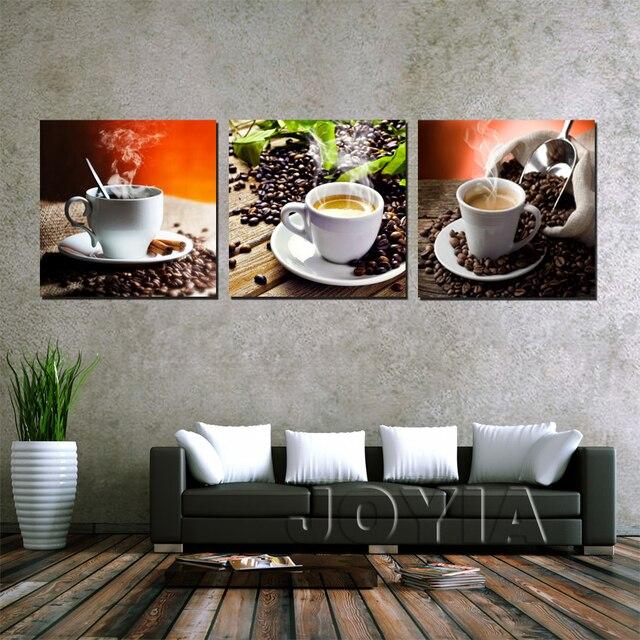 Decoración de la pared café lienzo cuadro pintura café Wall imágenes ...