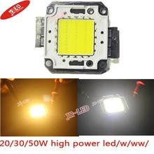 Freeshipping!High Quality 2PCS/lot 20W 30W 50W 100W 45MIL White /warmwhite LED Chip DIY for Street Lamp /Flood Light
