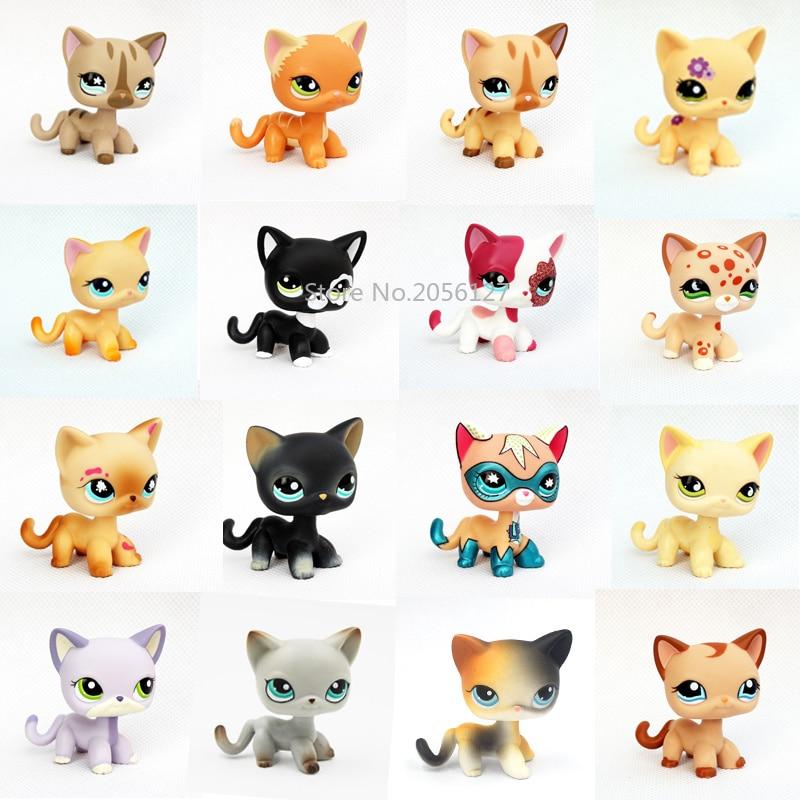 pet shop toys rare animal standing #2291 #5 short hair cat model #994 old original pet toys kitten child Xmas gift