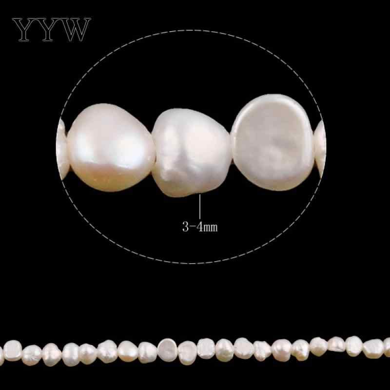 Chất Lượng cao 4-5mm 100% Nước Ngọt Tự Nhiên Hạt Ngọc Trai trắng Baroque Ngọc Trai Rời Hạt Cho dây LÀM Bracelat bộ trang sức Làm