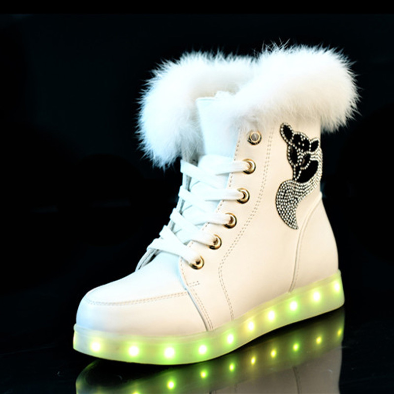 Aliexpress.com : Buy Women LED Boots Autumn Winter High Top ...