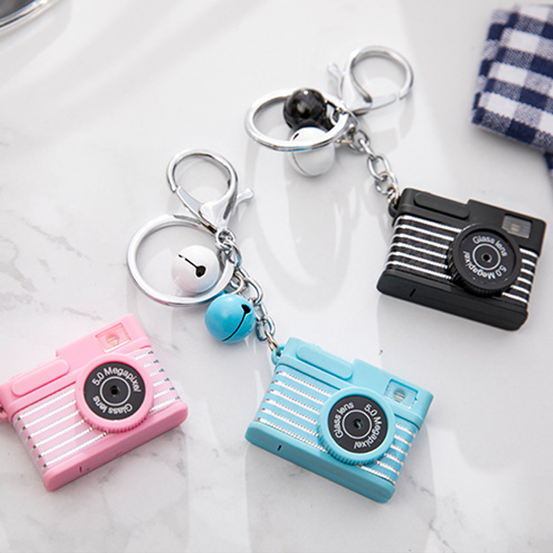 Cute Electronic Camera Toys For Kids LED Luminous Camera With Keychain Pendant Bag Accessories Light-up Toys For Children