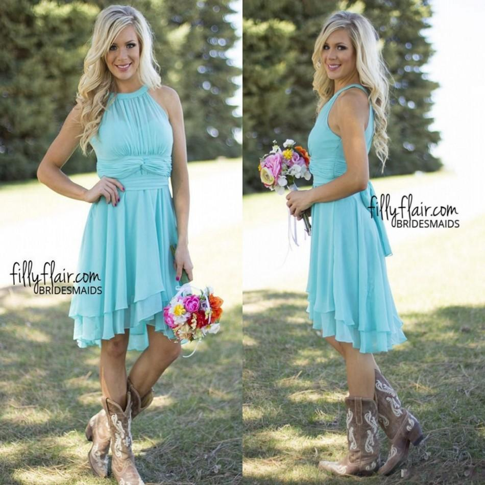 Online get cheap beach bridesmaid dresses cheap aliexpress under 60 cheap short country bridesmaid dresses 2017 mint turquoise beach chiffon bridesmaid vestido madrinha prom ombrellifo Gallery