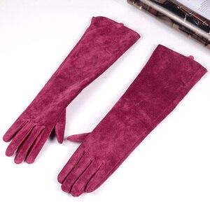 Image 2 - Mujer ante Real Party Long Evening guantes Ópera/guantes largos en diez colores