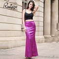 2017 RUIYIGE fashion sexy slim fit Retro Sequin 4 Colors Bodycon clubbing pretty evening party holiday Luxury long maxi skirt