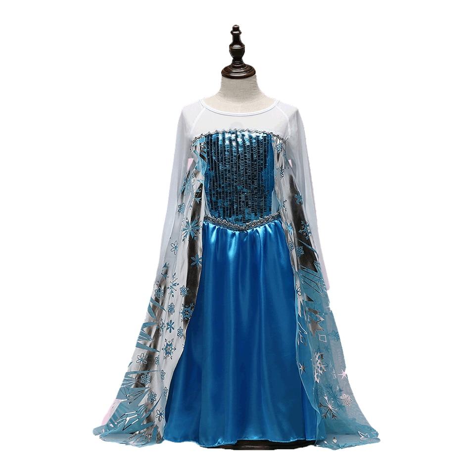 Disney Frozen dress vaiana girls elza anna Fantasy new year Cosplay ...