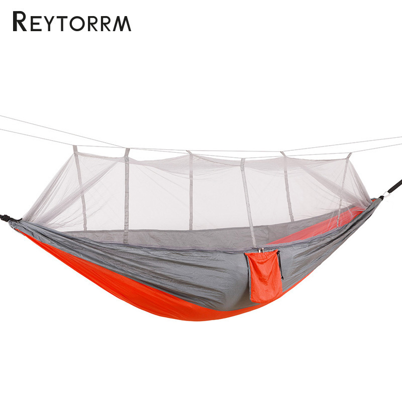 Indoor Outdoor Durable Hammock Couple Survival Travel Camping Hamak For 1-2Person Backpacking Garden Hanging Anti-Mosquito Hamac 2 people portable parachute hammock outdoor survival camping hammocks garden leisure travel double hanging swing 2 6m 1 4m 3m 2m