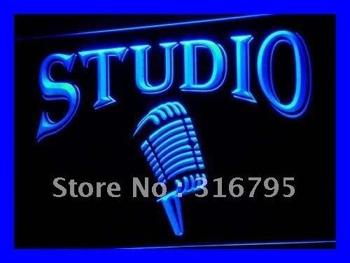 I587 Studio Auf Der Luft Mikrofon Bar LED Neonlicht-zeichen Auf/Aus-schalter 20 Farben 5 Größen