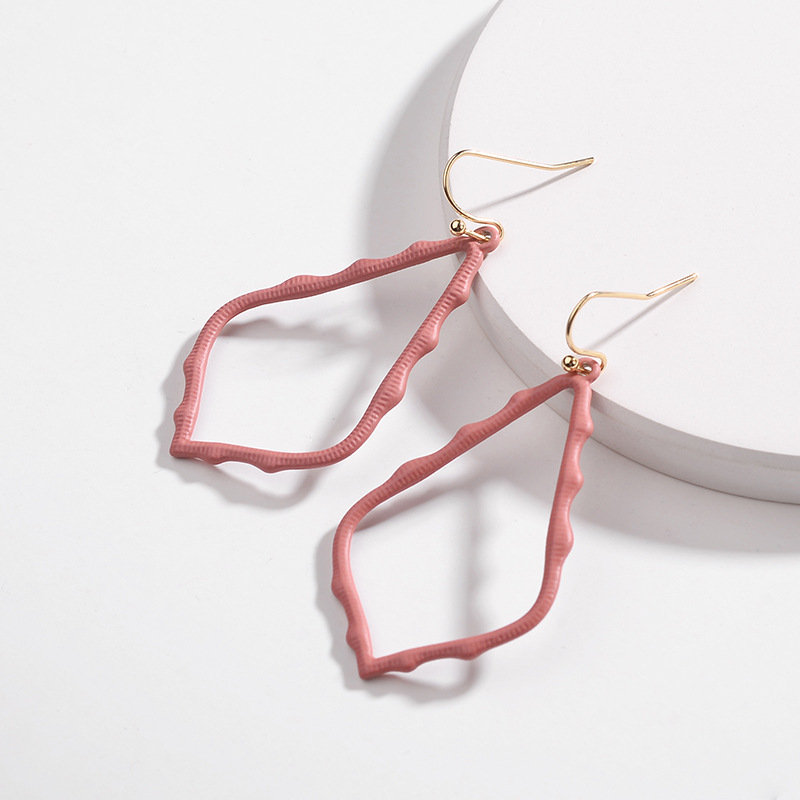 15 Colors Designer Frame Teardrop Earrings for Women Fashion Jewelry Painting Metal Water Drop Earrings Statement Earrings 26