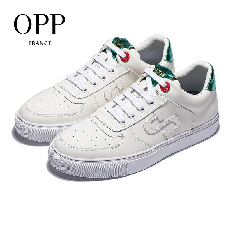 OPP Мужская обувь дышащие туфли на шнурках на каждый день Мужская дикая удобная спортивная обувь кожаная обувь в британском стиле ретро