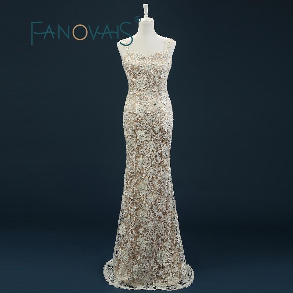 Luxury Gold Long Evening Dresses 2019 robe de soiree vestido de festa Sexy Backless Beaded Lace Applique Sweetheart Floor Length