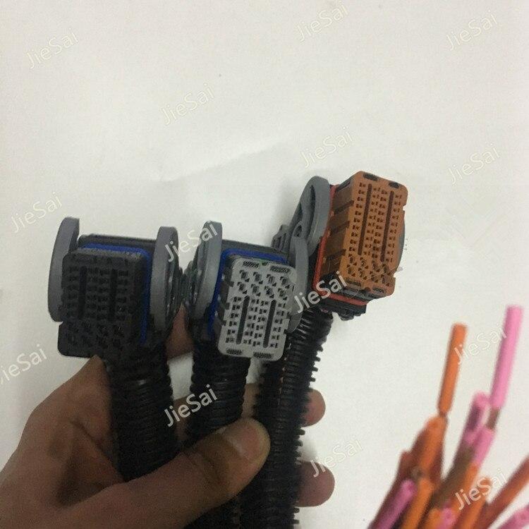 1 ensemble de câbles de carte d'ordinateur automobile branchez le connecteur de contrôleur pour Weichai OH6