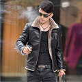 Hot !2015 Autumn New Fund A Winter Coat For Men Of High Quality Sheepskin Coat Men 's Leather Jacket With Fur  Blouson Cuir