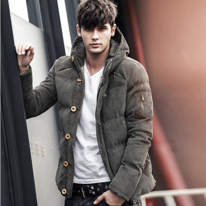 Nowy mężczyźni kurtka zimowa płaszcz moda jakość bawełna