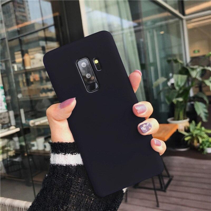 Couleur bonbon Doux étuis pour samsung Galaxy S6 S7 S8 S9 Plus J3 J5 J7 2016 A3 A5 A7 2017 A8 + 2018 A6 J4 J6 L'UE couvercle de boitier en silicone