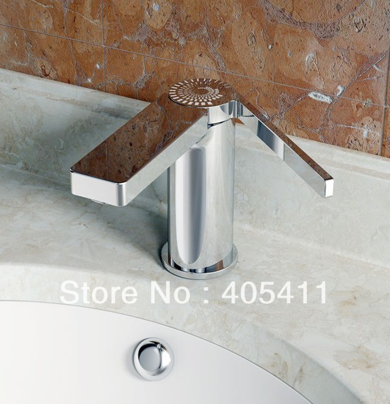 2014 new! 100% brass chrome color.High-end fashion hot and cold Bathroom wash basin faucet Wholesale and retail 1pcs/lot все цены