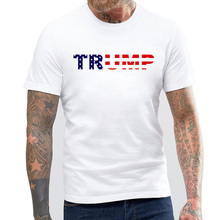 USA New President TRUMP Supporters Cheer Men's T-shirts TRUMP Letters Print Cotton Short O-neck Tshirt Men Brand Clothing
