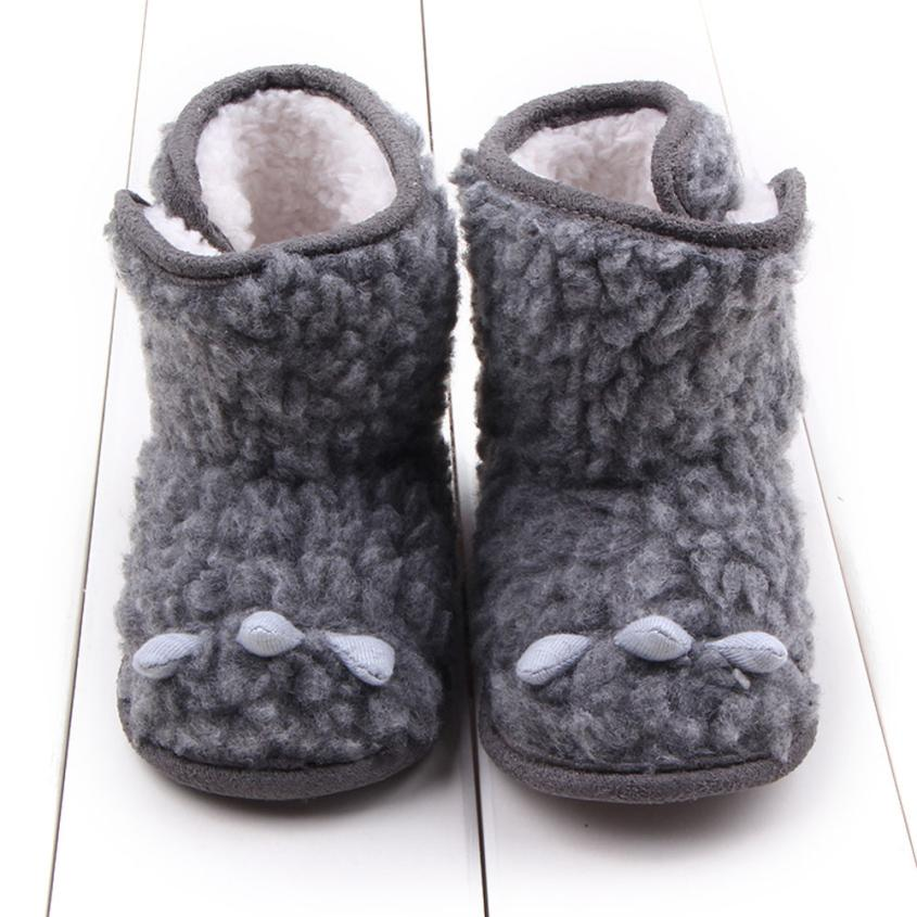 Boots Cartoon claw design Baby Toddler Infant Snow Boots Soft Sole Prewalker Crib Shoes Sapato Masculino