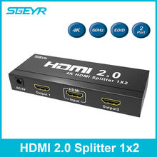 SGEYR HDMI Splitter 1×4 1×2 4 K x 2 K 1 em 4 out HDMI Splitter 1 em 2 out hdmi 2.0 Versão splitter 4 K x 2 K em 60Hz 3D HDCP 2.2