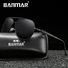 BANMAR BRAND DESIGN Classic Polarized Sunglasses Men Women Driving Pilot Frame Sun Glasses Male Goggle UV400 Gafas De Sol