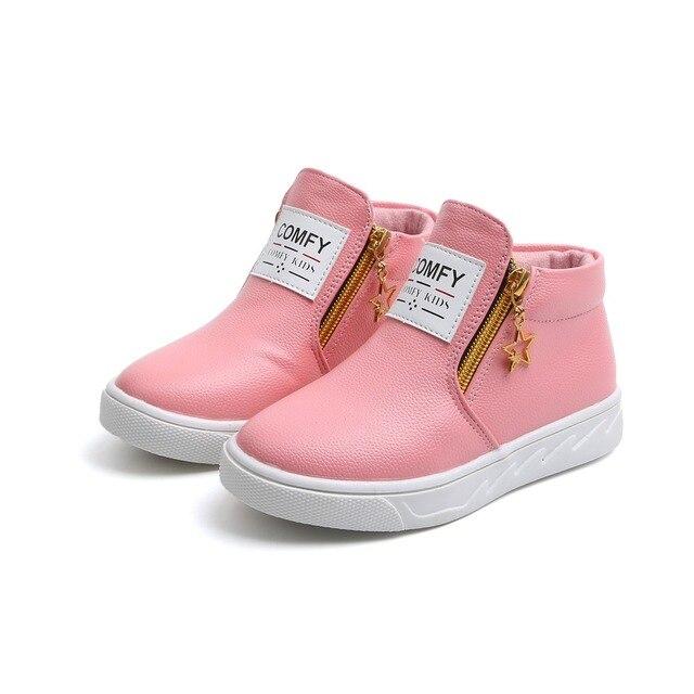 f55dab3c697b2 Printemps automne mode enfant bottes pour garçons filles en cuir bottes  chaussures casual plat enfants martin