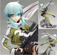 Good PVC Kotobukiya Sword Art Online 1/8 Sinon Phantom Bullet Action Figure Anime SAO GGO Model Toy Collectibles Gift 23cm