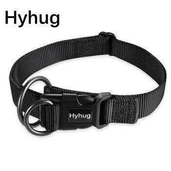 Regulowany nylonowa obroża dla psa, duży, średni, obroża dla małego psa Nylon miękkie wygodne trwałe obroża dla zwierząt domowych dla dużych psów HY004