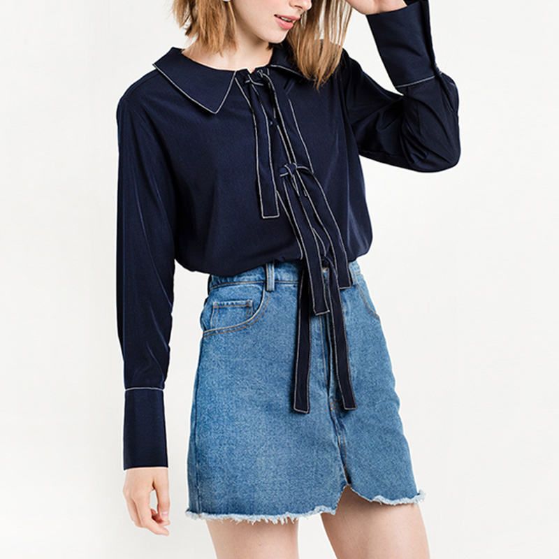 Online Get Cheap Navy Blue Blouse -Aliexpress.com | Alibaba Group
