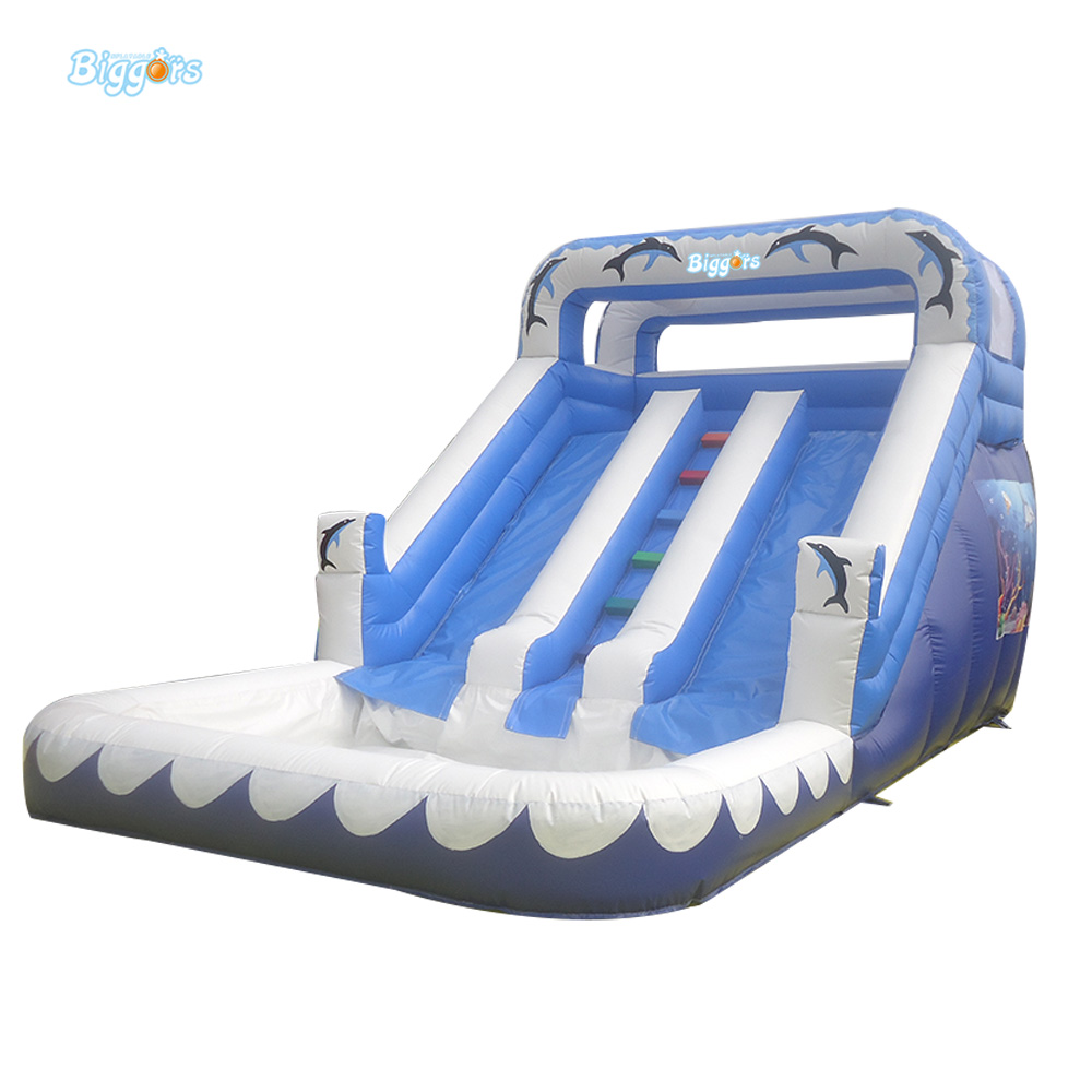 Commercial Big Cheap Giant Inflatable Water Pool Slide For Kids And Adults jungle commercial inflatable slide with water pool for adults and kids