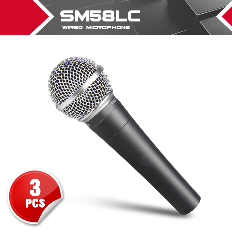 Top Quality 3PCS for seller resell -- Real Transformer SM 58 58LC SM58LC Handheld Wired Mic Karaoke Microphone Free shipping  free shipping high quality version sm 58 58lc sm58lc wired vocal karaoke handheld dynamic microphone microfone microfono mic