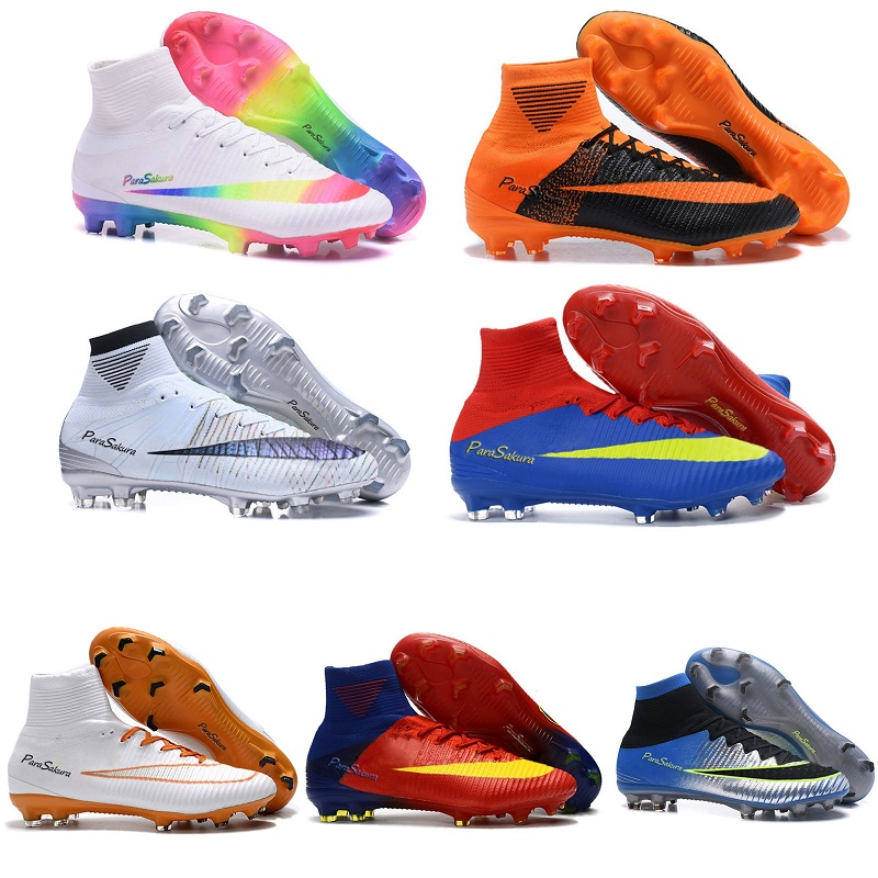 finest selection 31971 3e4fc US $28.49 5% OFF Original Soccer Shoes Men Hypervenom Phantom III 3 DF FG  AG Football Boots High Ankle Soccer Boots Botines De Futbol Chuteiras-in ...