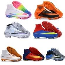 competitive price 86dea d8468 Zapatos De fútbol originales hombres hipervenom Phantom III 3 DF FG AG  botas De fútbol tobillo