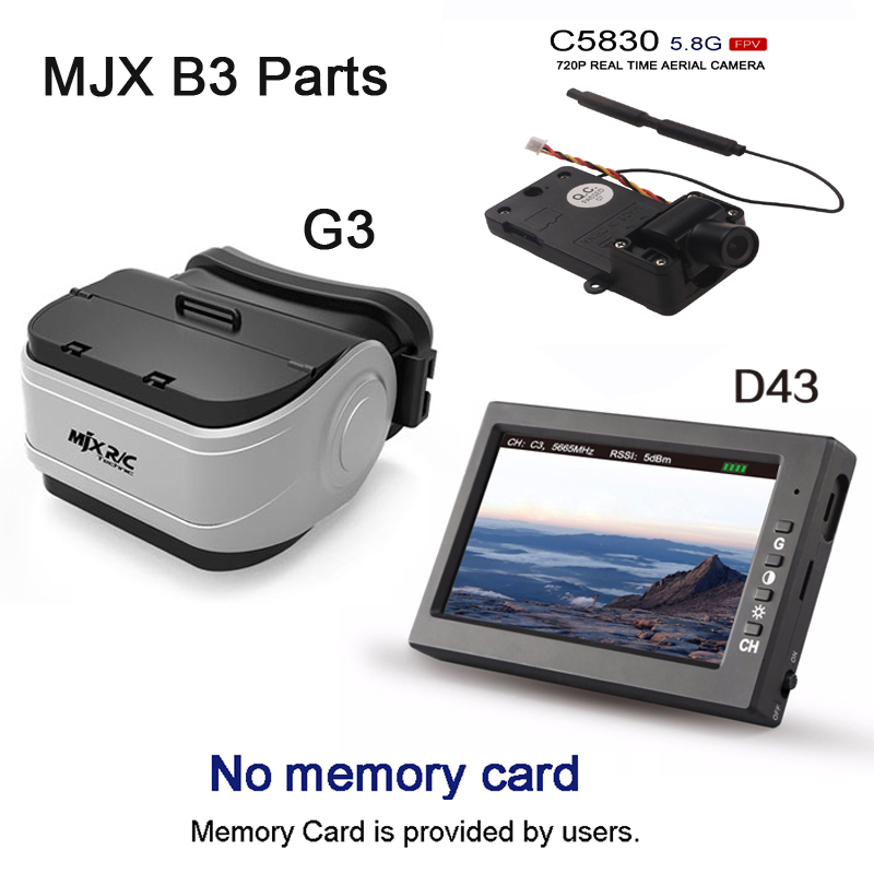 MJX D43 5.8G FPV Monitor 4.3 inch LCD Screen RC Brushless Drone Spare Parts with G3 Goggles fits for Bugs 3 C5830 Bugs 6