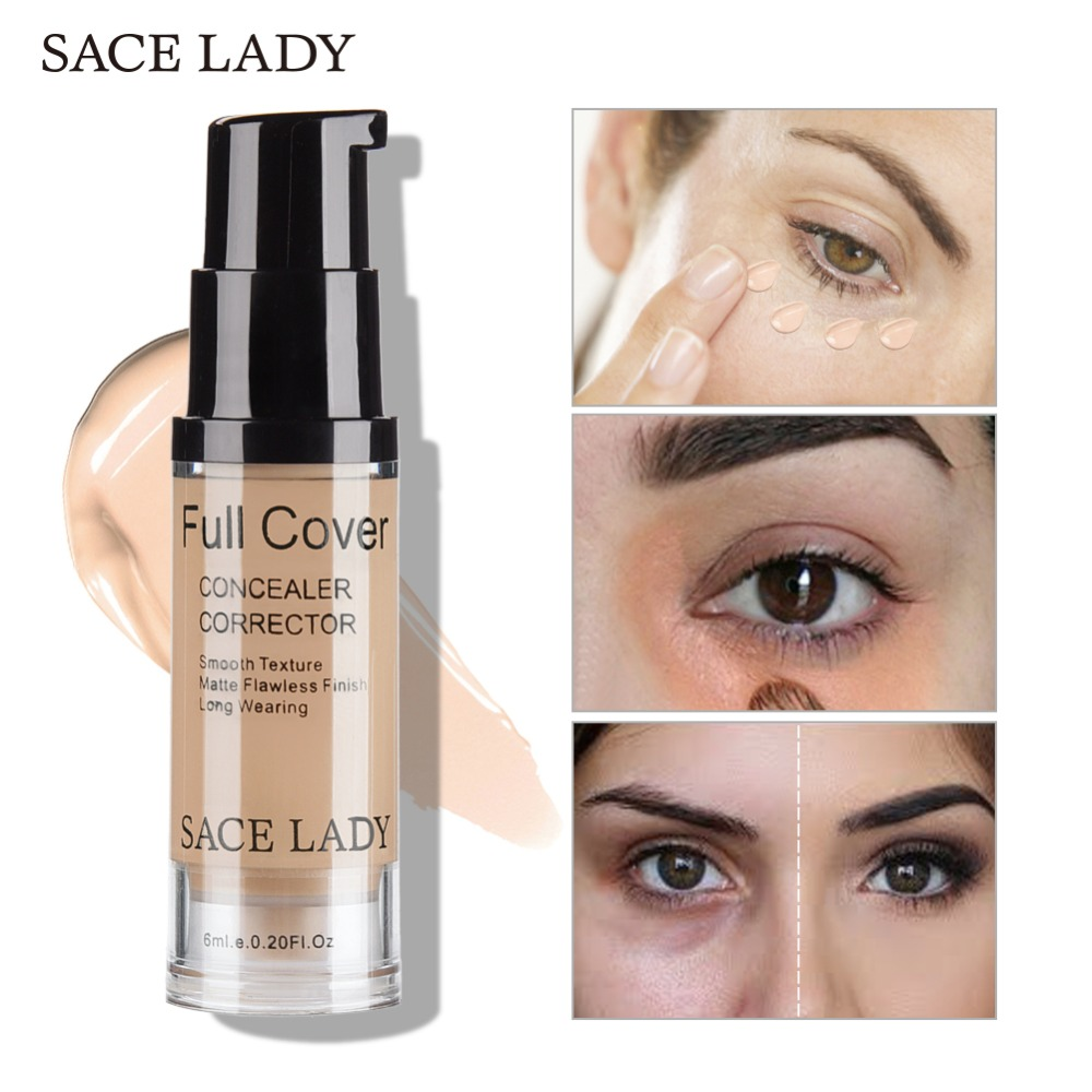 Sace Lady Professional Eye Concealer Makeup Base 6ml Full Cover For