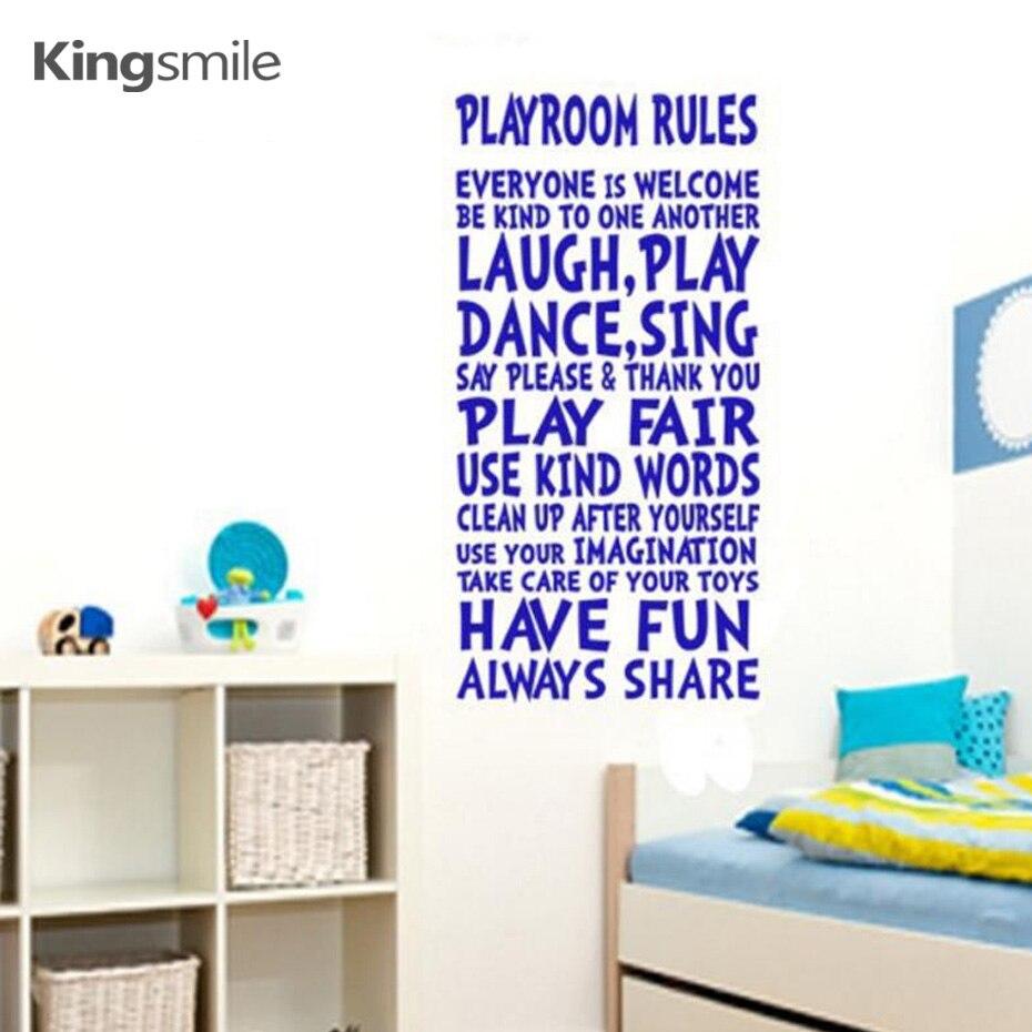 Modern Dinding Stiker Vinyl Nursery Playroom Aturan Harga Wall Vinil Kualitas Bagus Tanda Art Decals Untuk Anak Ruang Bermain Dekorasi Ukuran 112x56 Cm