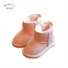 2017 winter new snow boots girl boots sequins boots princess boots men and women thickening cotton shoes